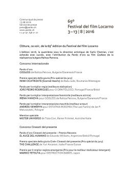 Clôture, ce soir, de la 69e édition du Festival del film Locarno