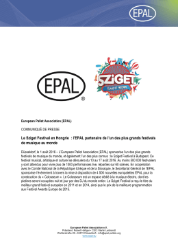 Lire la suite… - EPAL Pallet Association