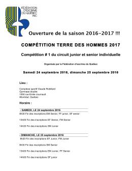 Terre des Hommes 2016 - Fédération Escrime Québec
