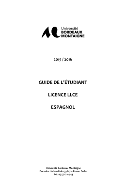 Guide Licence Espagnol 2015-2016 - Accueil