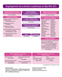 Organigramme de la direction académique du Bas