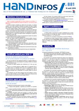 Télécharger le document - Fédération française de handball