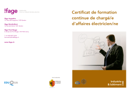 Certificat de formation continue de chargé/e d`affaires électricien/ne