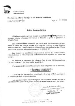 Télécharger - Algérie Poste