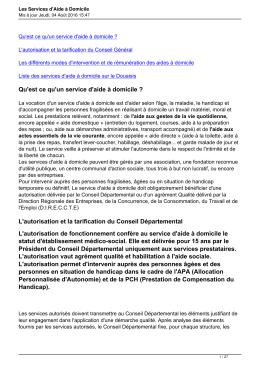 Les Services d`Aide à Domicile - CLIC de l`arrondissement de DOUAI