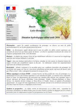 Dernier bulletin de situation hydrologique Loire