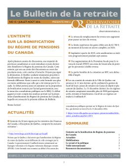 Le Bulletin de la retraite - Observatoire de la retraite