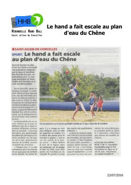 Lire la suite - Hirondelle Handball