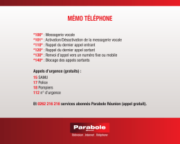 memo telephone - Parabole Réunion