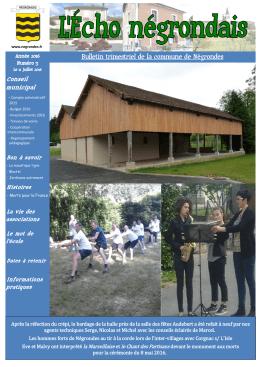 juillet 2016 - Commune de Négrondes