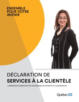 Déclaration de services aux citoyens