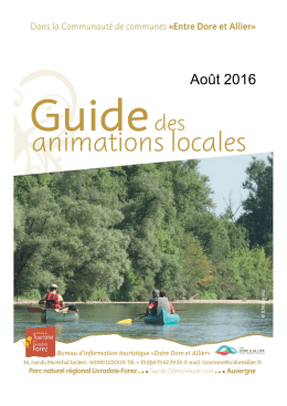 Guide des animations sur l`ensemble de la communauté
