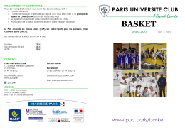 basket - Paris Université Club