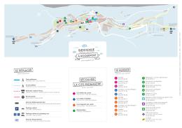 1 Zone piétonne Accès piéton Itinéraire voiture et bus Route barrée