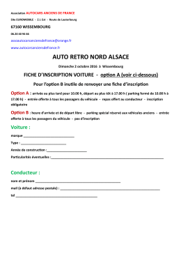 auto retro nord alsace - L`association Autocars Anciens de France