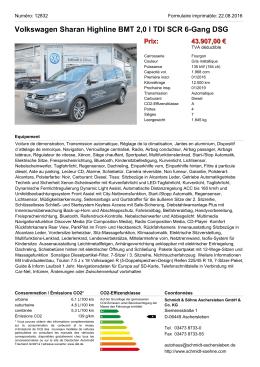 Volkswagen Sharan Highline BMT 2,0 l TDI SCR 6