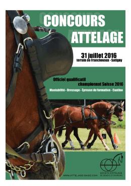Programme détaillé - Société d`Attelage de Genève et Environs