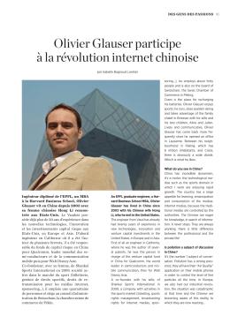 Olivier Glauser: internet à la chinoise - Crans