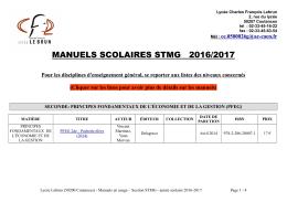 Liste - Lycée Charles