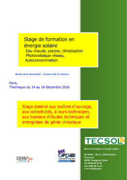 programme, conditions et bulletin d`inscription