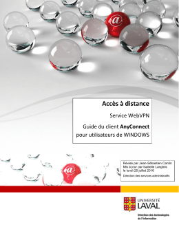 Guide AnyConnect pour WINDOWS - Direction des technologies de
