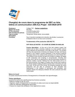 (500.AJ) Projet : 025-0620-2016 - Réseau Info Éducation AMEQ en