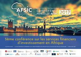 5ème conférence sur les services financiers d`investissement