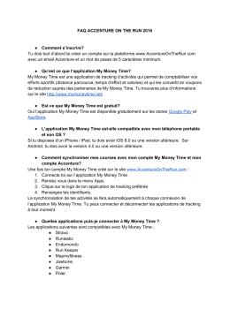 FAQ ACCENTURE ON THE RUN 2016 Comment s`inscrire? Tu dois