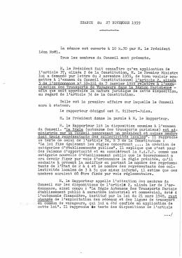 Compte-rendu de la séance du 27 novembre 1959