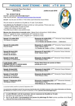 PAROISSE SAINT ÉTIENNE ~ BRIEC n°5 2008