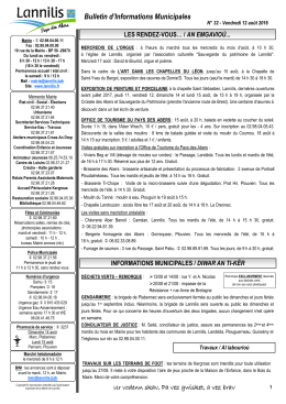 Bulletin d`Informations Municipales