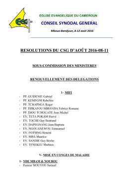 resolution du c.s.g. d`août 2016