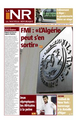 Alger - La Nouvelle République