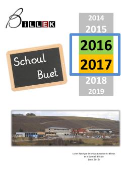 Schoulbuet 2016/2017