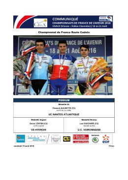 championnat de france de l`avenir de cyclisme sur route