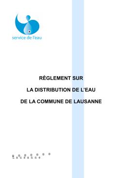 règlement sur la distribution de l`eau de la commune de lausanne