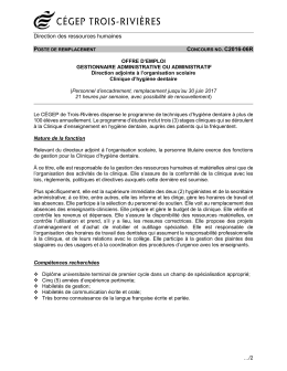 Gestionnaire administrative ou administratif