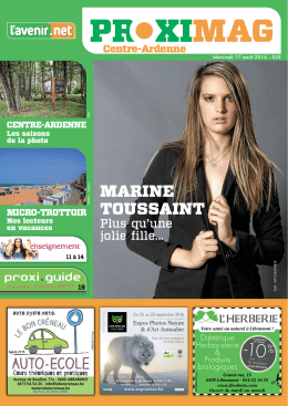 marine toussaint - Proximag