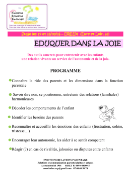le programme et le bulletin d`inscription