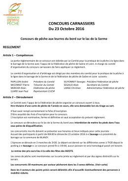 Règlements - Fédération de pêche de Saône-et