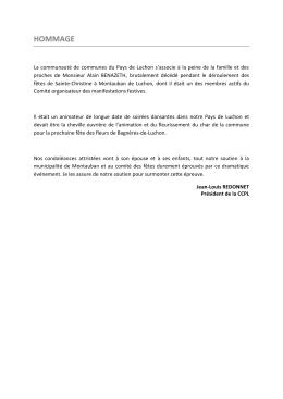 hommage - Communauté de Communes du Pays de Luchon