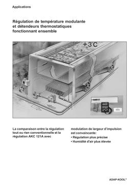 Régulation de température modulante et détendeurs