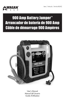 900 Amp Battery Jumper™ Arrancador de batería de 900 Amp