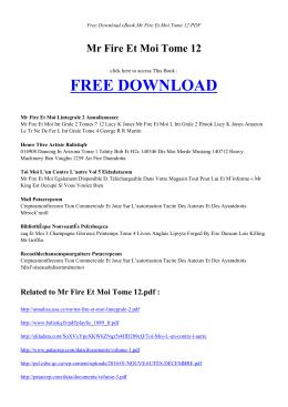 MR FIRE ET MOI TOME 12 | Free PDF