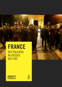 Amnisty international violences policières france 2009