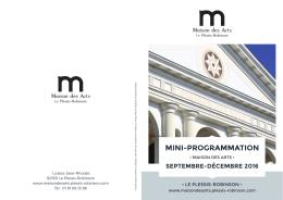 Téléchargez la Mini-Programmation sept-déc - Accueil