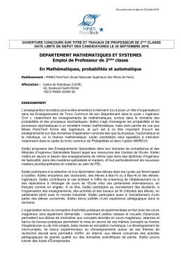 Mines ParisTech - Document sans titre