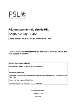 Réaménagement du site de PSL 62 bis, rue Gay