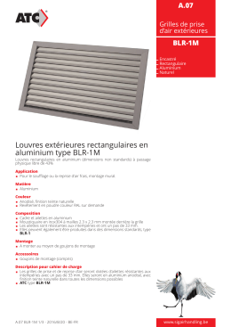 Louvres extérieures rectangulaires en aluminium type BLR-1M