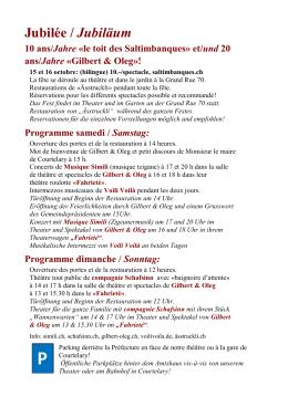 Jubilée / Jubiläum - Le Toit des Saltimbanques